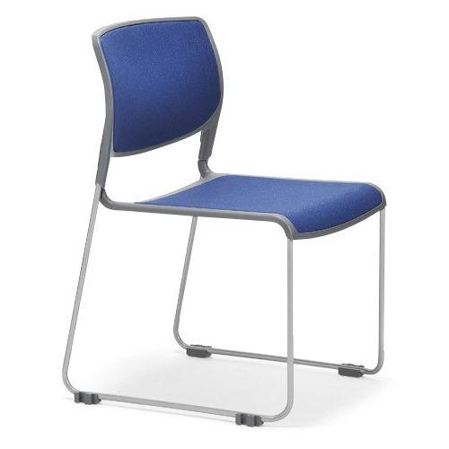 会議椅子 スタッキングチェア MC-163 連結脚 肘なし 粉体塗装商品画像1