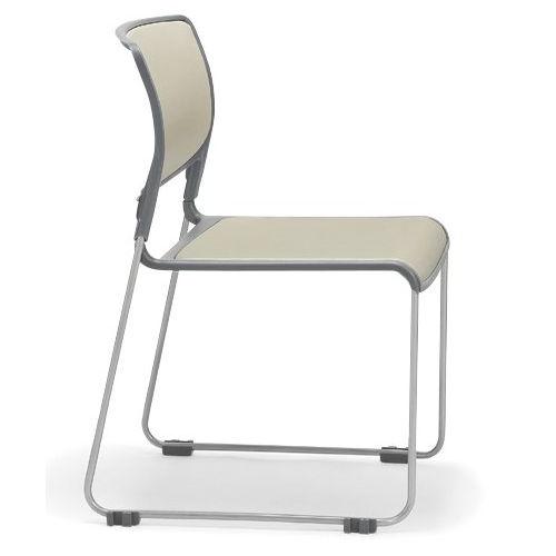 会議椅子 スタッキングチェア MC-163 連結脚 肘なし 粉体塗装商品画像2