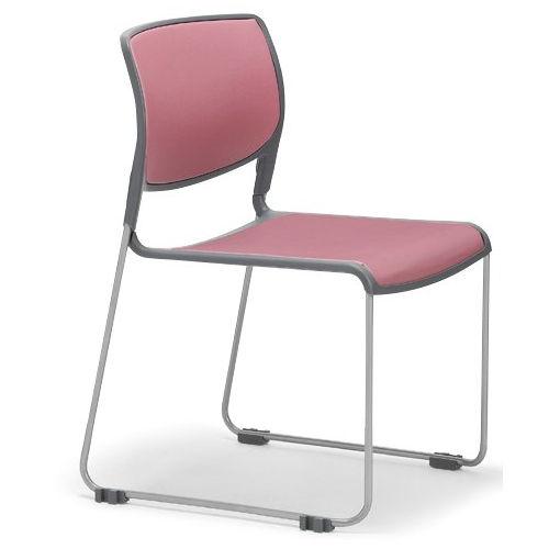 会議椅子 スタッキングチェア MC-163 連結脚 肘なし 粉体塗装商品画像3