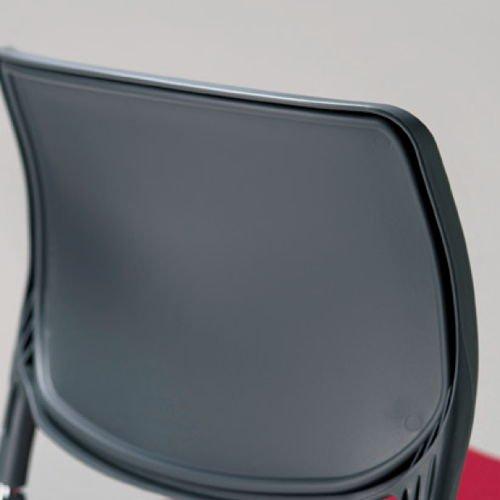 会議椅子 スタッキングチェア MC-163 連結脚 肘なし 粉体塗装商品画像6