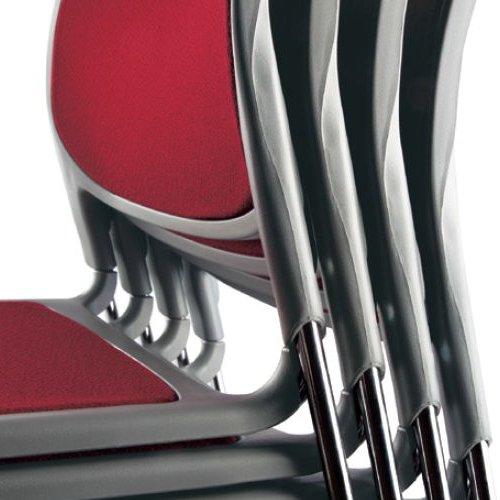 スタッキングチェア MC-173 連結脚 肘なし クロームメッキ商品画像8