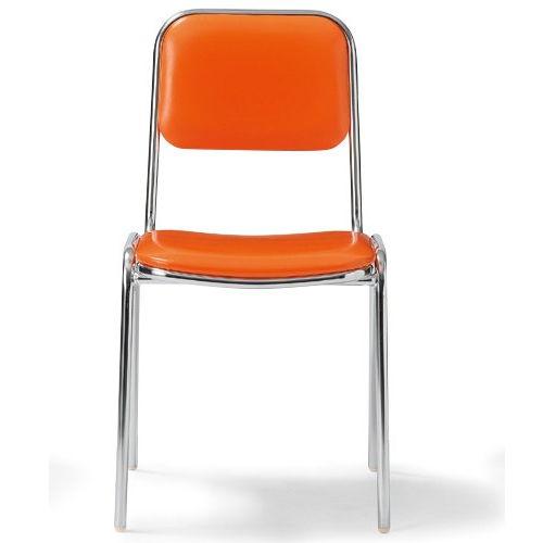 会議椅子 スタッキングチェア MC-2000 固定脚 クロームメッキ 肘なし 商品画像1