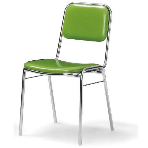 会議椅子 スタッキングチェア MC-2000 固定脚 クロームメッキ 肘なし 商品画像2