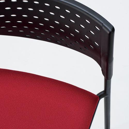 スタッキングチェア MC-201B 固定脚 肘なし ブラック粉体塗装 ブラックシェル商品画像6