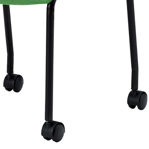 スタッキングチェア MC-221B キャスター脚 肘なし ブラック粉体塗装 ブラックシェル商品画像7