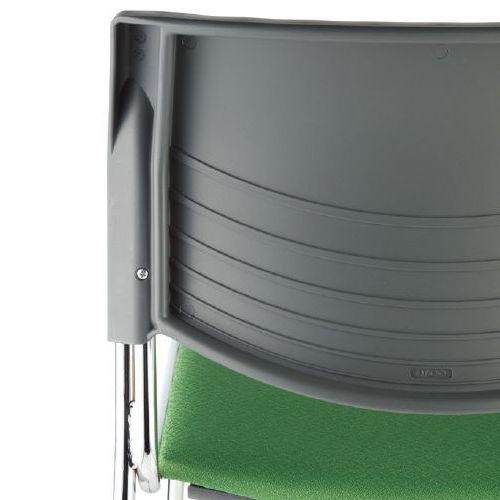 【廃番】スタッキングチェア アイコ MC-233G キャスター脚 肘なし クロームメッキ グレーシェル商品画像9