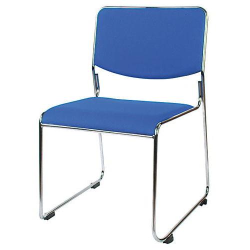 会議椅子 スタッキングチェア MK-550CN ループ脚 布張り 肘なし商品画像2