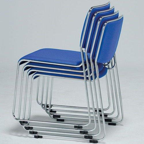 会議椅子 スタッキングチェア MK-550CN ループ脚 布張り 肘なし商品画像4