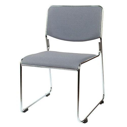 会議椅子 スタッキングチェア MK-550CN ループ脚 布張り 肘なしのメイン画像