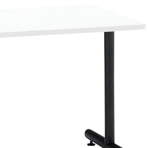 会議用テーブル 2本T字脚テーブル MTB-1275 W1200×D750×H700(mm) ブラックカラー脚商品画像5