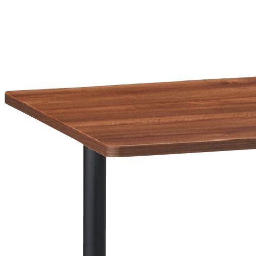会議用テーブル 2本T字脚テーブル MTB-1875 W1800×D750×H700(mm) ブラックカラー脚商品画像5