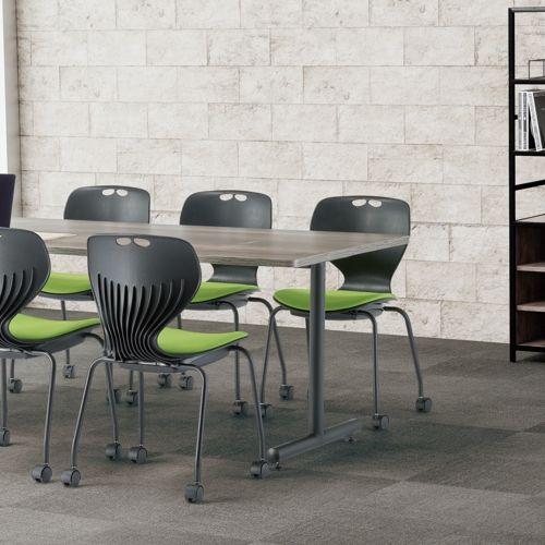 会議用テーブル 2本T字脚テーブル MTB-1875 W1800×D750×H700(mm) ブラックカラー脚商品画像9
