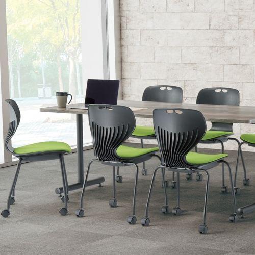 会議用テーブル 2本T字脚テーブル MTB-1875 W1800×D750×H700(mm) ブラックカラー脚商品画像10