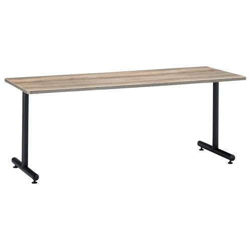 会議用テーブル 2本T字脚テーブル MTB-1875 W1800×D750×H700(mm) ブラックカラー脚のメイン画像