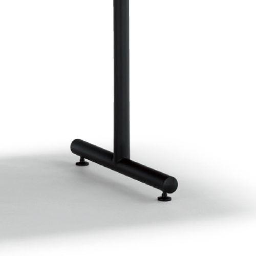会議用テーブル 2本T字脚テーブル MTB-1890 W1800×D900×H700(mm) ブラックカラー脚商品画像6
