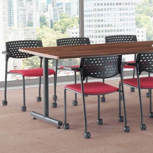 会議用テーブル 2本T字脚テーブル MTB-1890 W1800×D900×H700(mm) ブラックカラー脚商品画像7