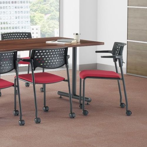 会議用テーブル 2本T字脚テーブル MTB-1890 W1800×D900×H700(mm) ブラックカラー脚商品画像8