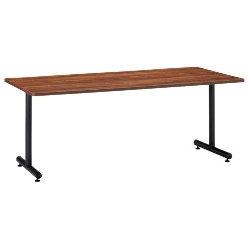会議用テーブル 2本T字脚テーブル MTB-1890 W1800×D900×H700(mm) ブラックカラー脚のメイン画像