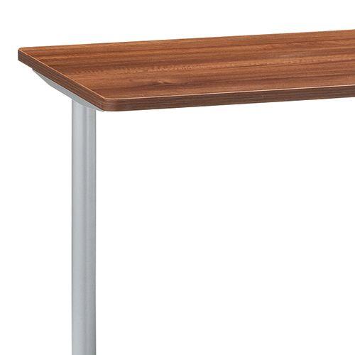 会議用テーブル 2本T字脚テーブル MTS-1275 W1200×D750×H700(mm) シルバーカラー脚商品画像4