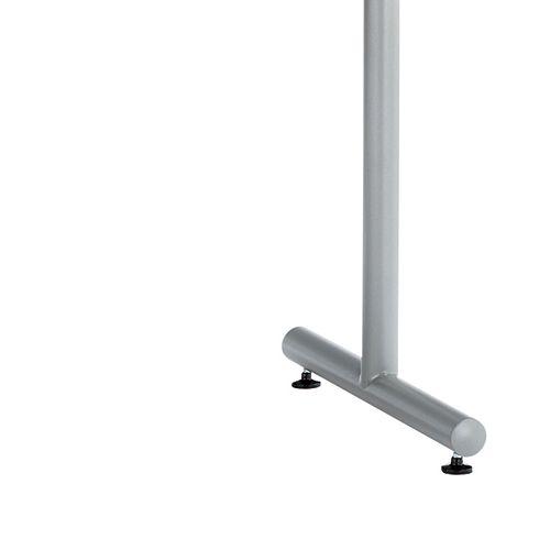 会議用テーブル 2本T字脚テーブル MTS-1275 W1200×D750×H700(mm) シルバーカラー脚商品画像5