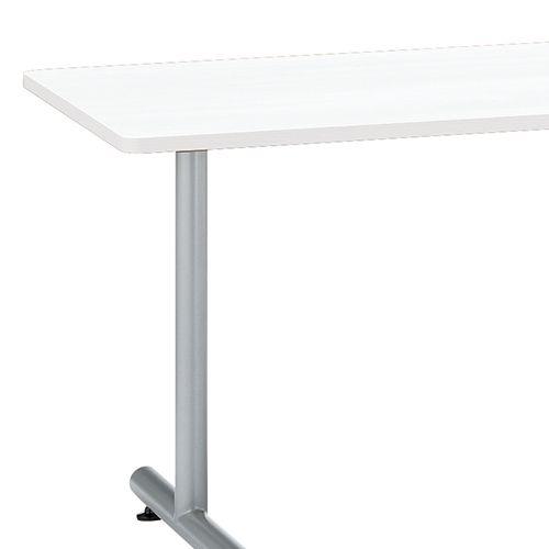 会議用テーブル 2本T字脚テーブル MTS-1275 W1200×D750×H700(mm) シルバーカラー脚商品画像7