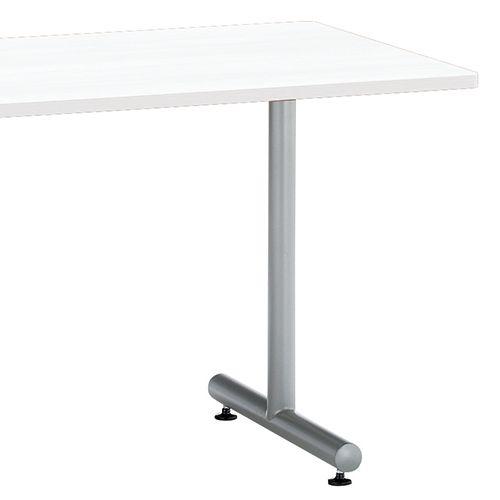 会議用テーブル 2本T字脚テーブル MTS-1575 W1500×D750×H700(mm) シルバーカラー脚商品画像5