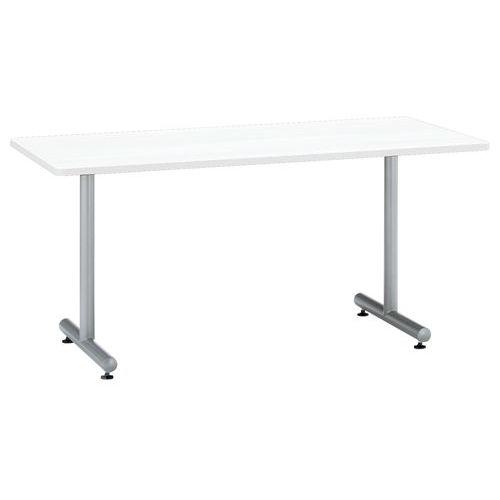 会議用テーブル 2本T字脚テーブル MTS-1575 W1500×D750×H700(mm) シルバーカラー脚のメイン画像