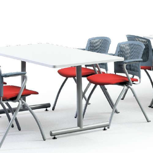 テーブル(会議用) 2本固定脚 MTS-1575K W1500×D750×H700(mm) 角形天板 粉体塗装商品画像3