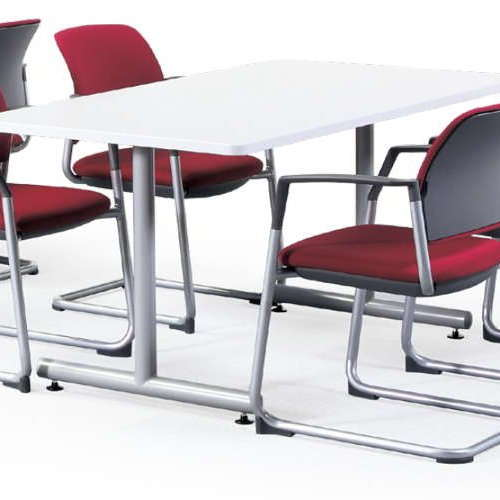 テーブル(会議用) 2本固定脚 MTS-1575K W1500×D750×H700(mm) 角形天板 粉体塗装商品画像5