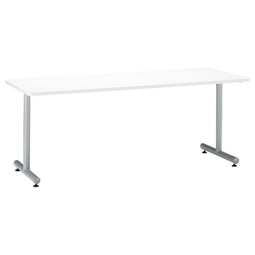 会議用テーブル 2本T字脚テーブル MTS-1875 W1800×D750×H700(mm) シルバーカラー脚のメイン画像