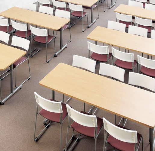 テーブル(会議用) アイコ 2本固定脚 MTS-1875K W1800×D750×H700(mm) 角形天板 粉体塗装商品画像4