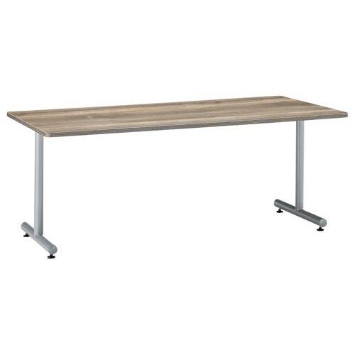 会議用テーブル 2本T字脚テーブル MTS-1890 W1800×D900×H700(mm) シルバーカラー脚のメイン画像