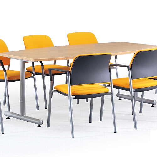 【廃番】会議用テーブル 2本固定脚 MTS-1890B W1800×D900×H700(mm) ボート形(舟形)天板 粉体塗装商品画像4