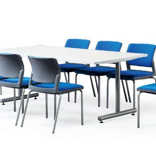テーブル(会議用) アイコ 2本固定脚 MTS-1890K W1800×D900×H700(mm) 角形天板 粉体塗装商品画像4