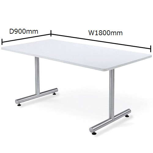 テーブル(会議用) アイコ 2本固定脚 MTS-1890K W1800×D900×H700(mm) 角形天板 粉体塗装のメイン画像