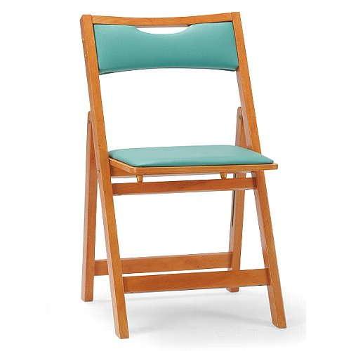【廃番】介護椅子 アイコ 角背 折りたたみ 木製チェア 持ち手付き MW-200 フラット収納商品画像2