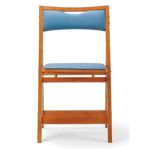 【廃番】介護椅子 アイコ 角背 折りたたみ 木製チェア 持ち手付き MW-200 フラット収納商品画像3
