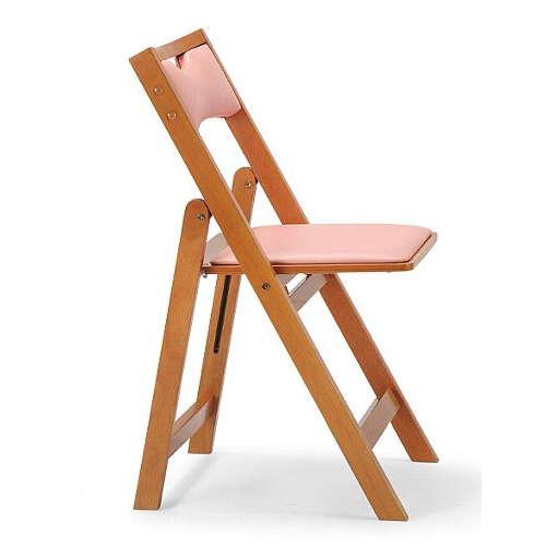 【廃番】介護椅子 角背 折りたたみ 木製チェア 持ち手付き MW-200 フラット収納商品画像4