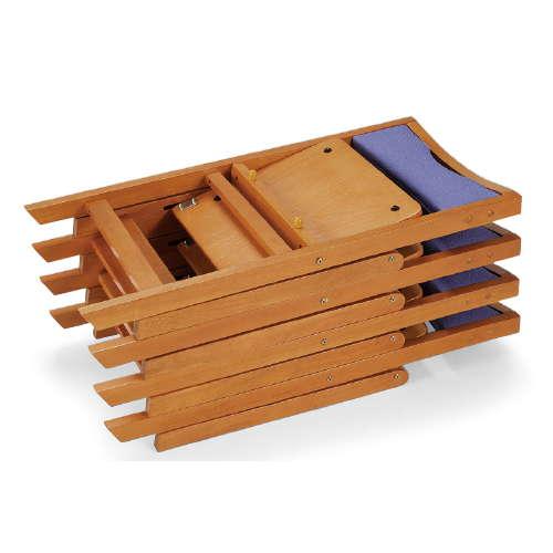 【廃番】介護椅子 角背 折りたたみ 木製チェア 持ち手付き MW-200 フラット収納商品画像7