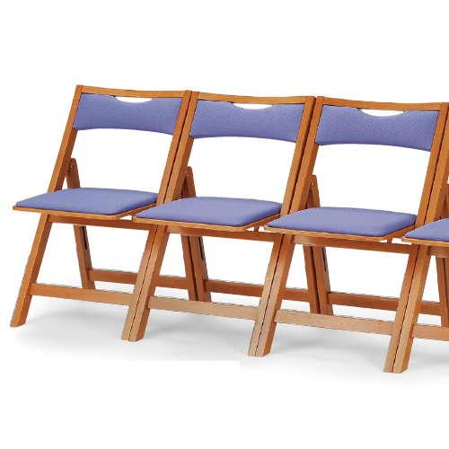 【廃番】介護椅子 角背 折りたたみ 木製チェア 持ち手付き MW-200 フラット収納商品画像8