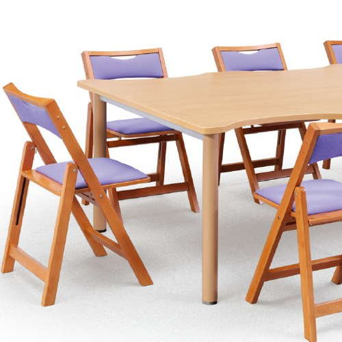 【廃番】介護椅子 アイコ 角背 折りたたみ 木製チェア 持ち手付き MW-200 フラット収納商品画像9