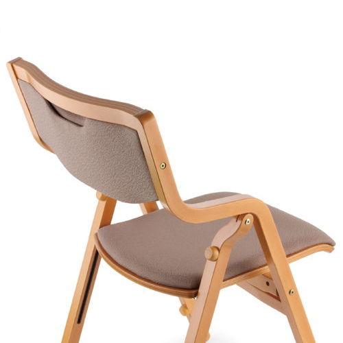 介護椅子 角背 折りたたみ スタッキング 木製チェア 持ち手付き MW-300 肘あり商品画像5