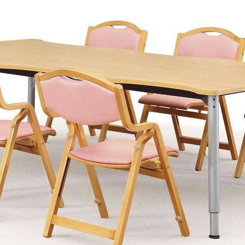 介護椅子 丸背 折りたたみ スタッキング 木製チェア 持ち手付き MW-305 肘あり商品画像7