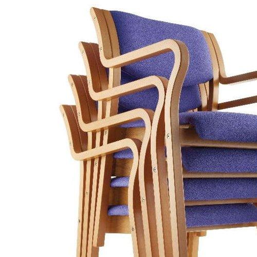 介護椅子 角背 木製チェア MW-310 肘あり商品画像7