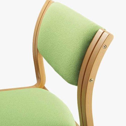 【廃番】介護椅子 アイコ 角背 木製チェア MW-311 肘なし商品画像4