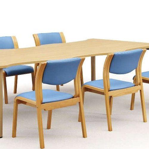 【廃番】介護椅子 アイコ 角背 木製チェア MW-311 肘なし商品画像5