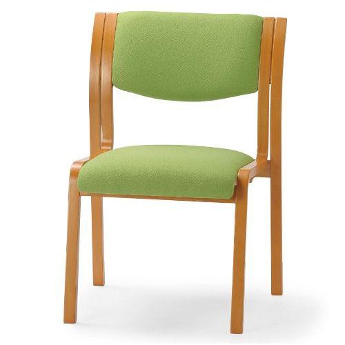 【廃番】介護椅子 アイコ 角背 木製チェア MW-311 肘なしのメイン画像