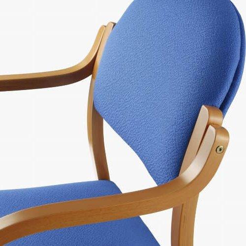 介護椅子 丸背 木製チェア MW-320 肘あり商品画像5