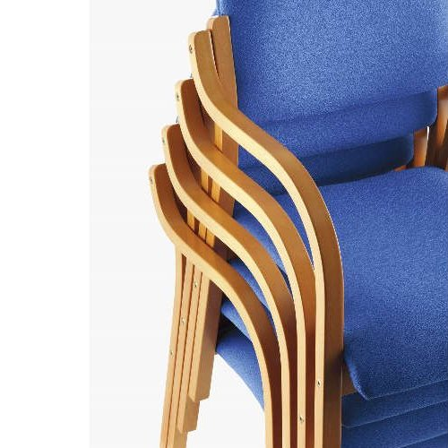 介護椅子 丸背 木製チェア MW-320 肘あり商品画像7