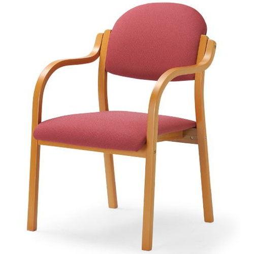 【廃番】介護椅子 アイコ 丸背 木製チェア MW-320 肘ありのメイン画像